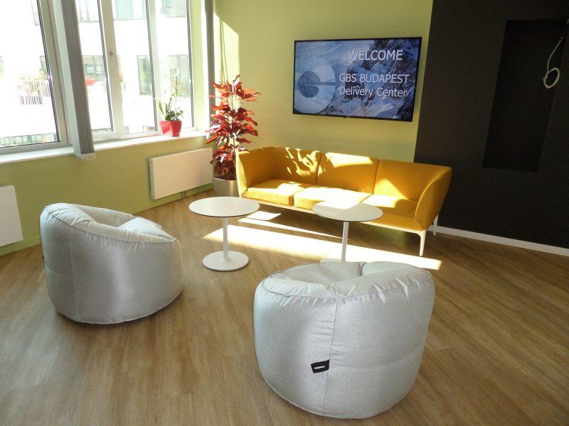 Pedrali Social sofa, Pedrali Island beanbag, Pedrali Stylus low table