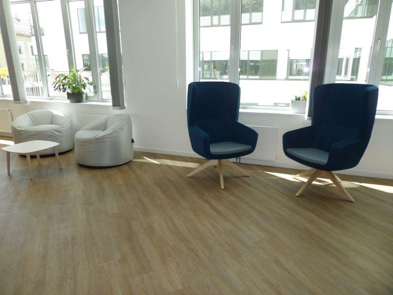Pedrali Island beanbag, Pedrali Malmö low table, TrueDesign Arca highback armchair