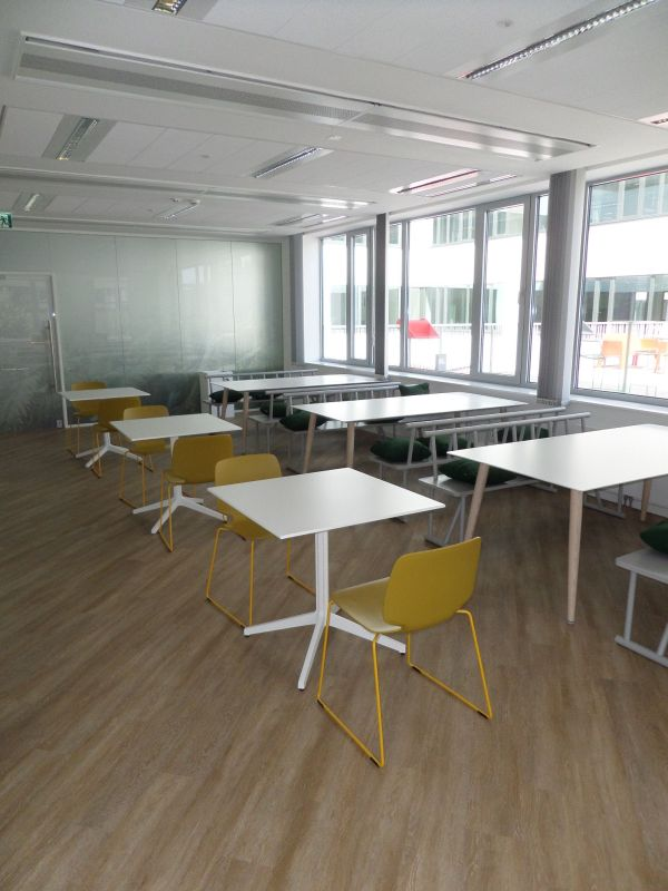 Pedrali Ypsilon table, Pedrali Babila dining chair, Pedrali Babila big dining table, Tenzo Grain dining bench