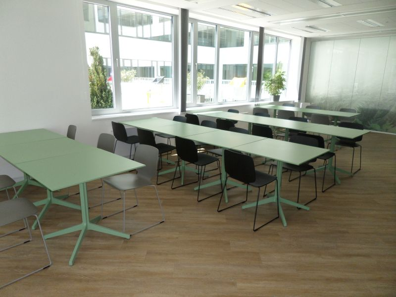 Pedrali Ypsilon table, Pedrali Babila dining chair