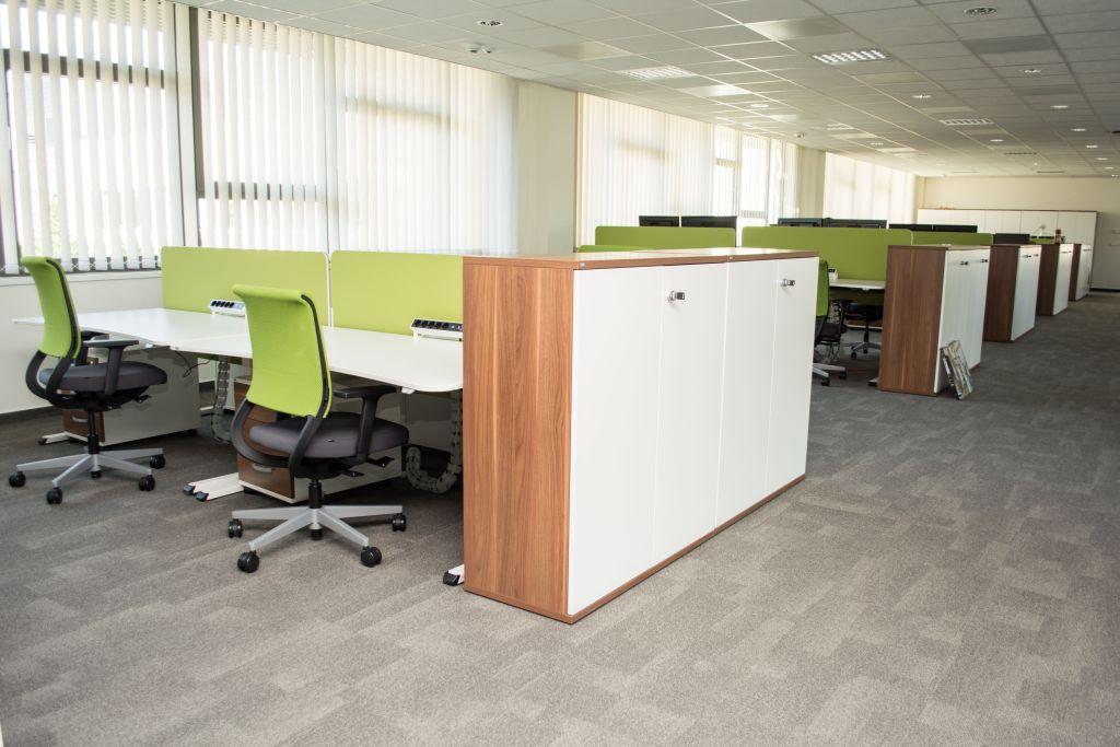 sedus up motorized desk, sedus grand slam cabinet, sedus netwin task chair